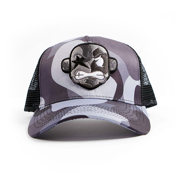 c60afd2d0670b GREY CAMO TRUCKER CAP — Playdot Apparel