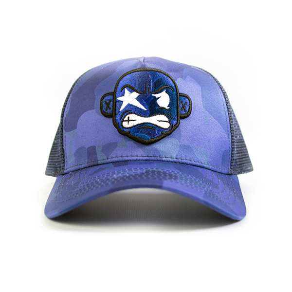 6fb1c17a1adec BLUE CAMO TRUCKER HAT — Playdot Apparel